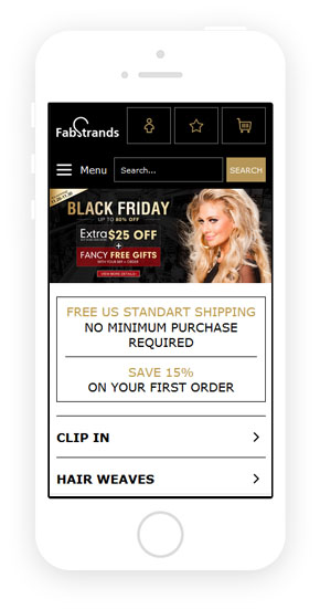 Mobile theme for Magento