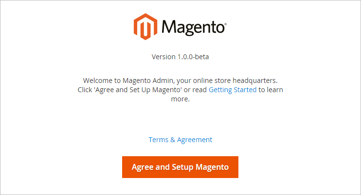 Magento 2 welcome message