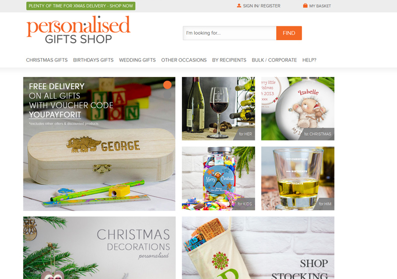 Our clients - Personalised Gifts Shop   ASTRIO