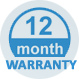 12 month project warranty